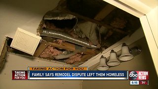 Local family forced to move out after falling out with contractor