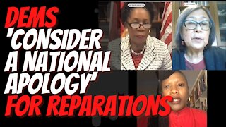 Dems 'consider a national apology' for reparations. Congress hearing on reparations for slavery.
