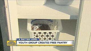 These kids set up a free neighborhood pantry for pets and people