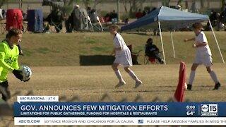 Arizona Governor Doug Ducey announces few mitigation efforts