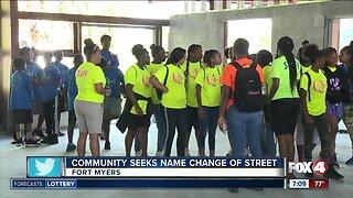 Community seeks street name change near QLC