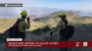 Sears Fire grows to more than 14,000 acres