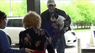 Occupational therapist reunites patient with husband and dog during COVID-19 recovery