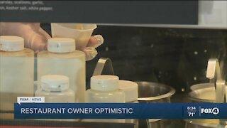 Restaurant owner optimistic