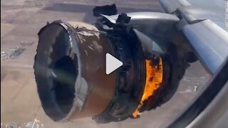 United Airlines plane engine on fire after takeoff from Denver