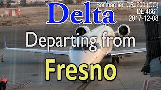 Bombardier CRJ200(OO) departure from Fresno CRJ200. Delta flight DL4661