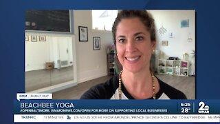 """Beachbee Yoga in Havre de Grace says """"We're Open Baltimore!"""""""