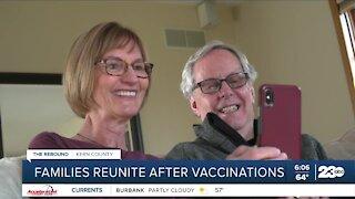 Families reunite after vaccnations