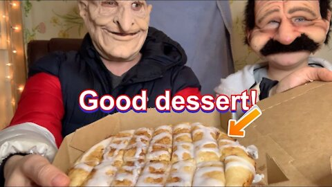 Reviewing a dessert from Pizza Plus by B&D Product & Food Review (Mukbang)