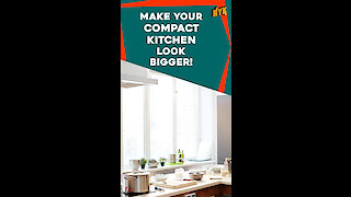 How to make a small kitchen look spacious? *