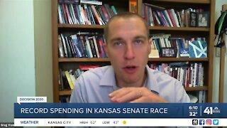 Record spending in Kansas Senate race