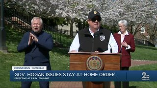 Gov. Hogan issues stay-at-home order for Maryland residents