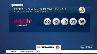Cape Coral lottery player wins Fantasy 5