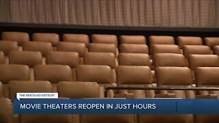 Movie theaters reopen Friday in Michigan