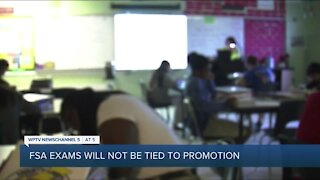 FSA scores won't be tied to student promotion or high school graduation, officials say
