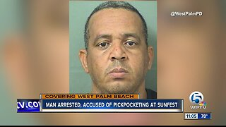 Man arrested for stealing phones at SunFest