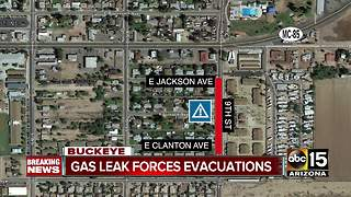 Gas leak forces evacuations at Buckeye apartment complex