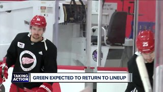 Mike Green returns to Red Wings lineup