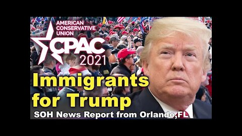 Thousands Gathering awaits for Former President Trump outside of CPAC, Feb28
