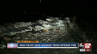 Man helps save worker from intense fire