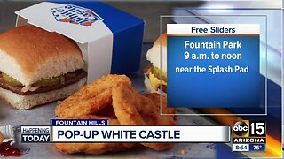 White Castle pop-up truck in Fountain Hills