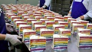 Amazing Rainbow Piece Cake artisan / korean street food