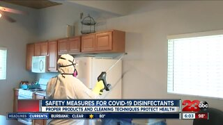 Safety measures for COVID-19 disinfectants