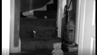Ball moves by itself in a haunted house
