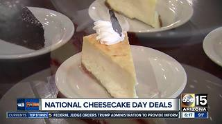 Celebrate National Cheesecake Day with deals!