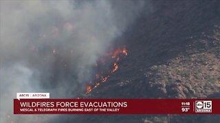 Wildfires force evacuations near Globe