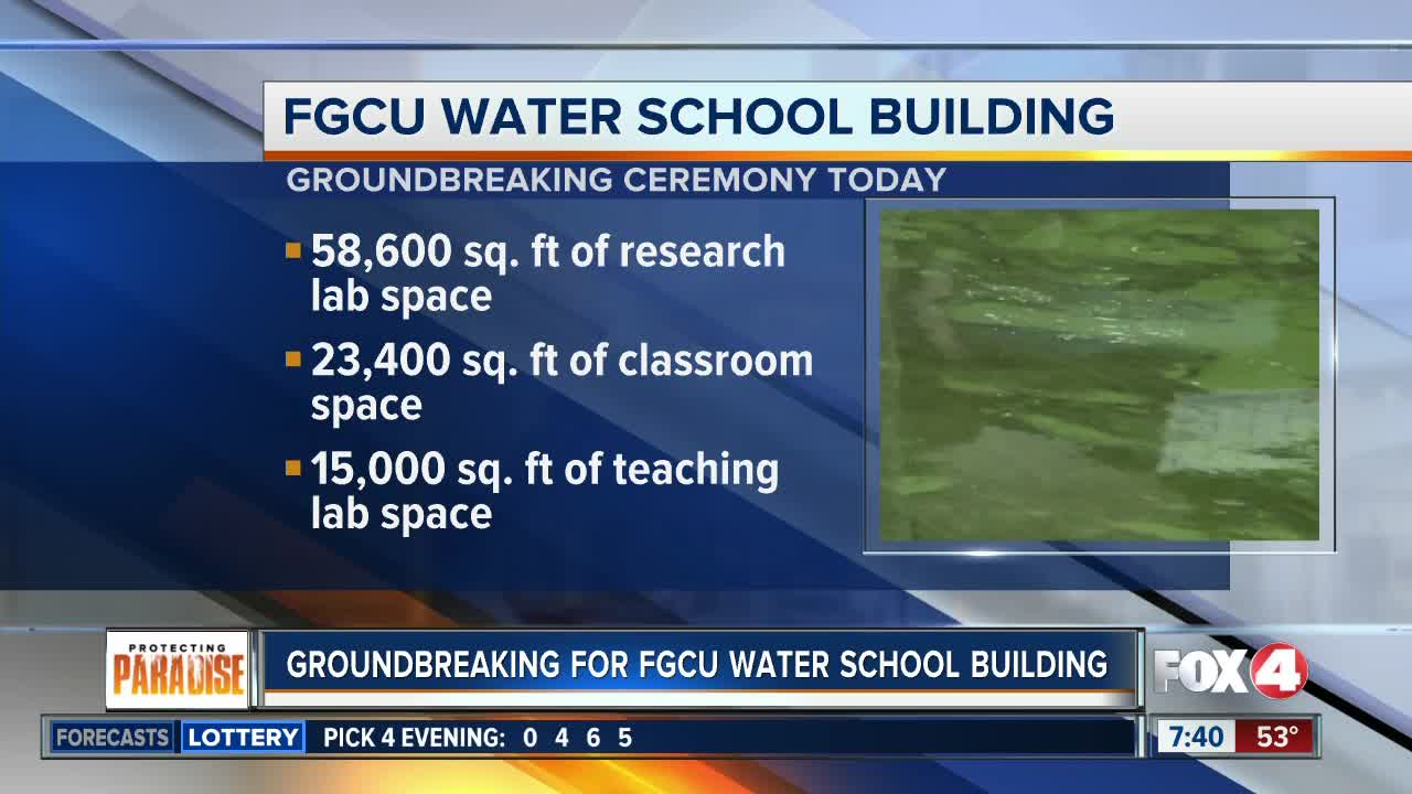 FGCU set to break ground on new Water School building
