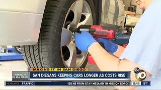 San Diegans keeping cars longer as costs rise