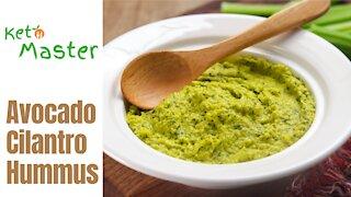 Avocado Cilantro Hummus | Keto Recipe | Custom Keto Diet Plan