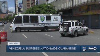 Venezuela suspend lockdown