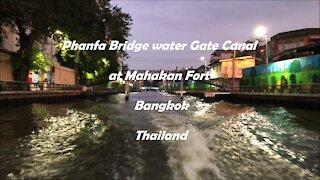Bobae Market Phanfa Bridge Water Gate Canal in Bangkok, Thailand