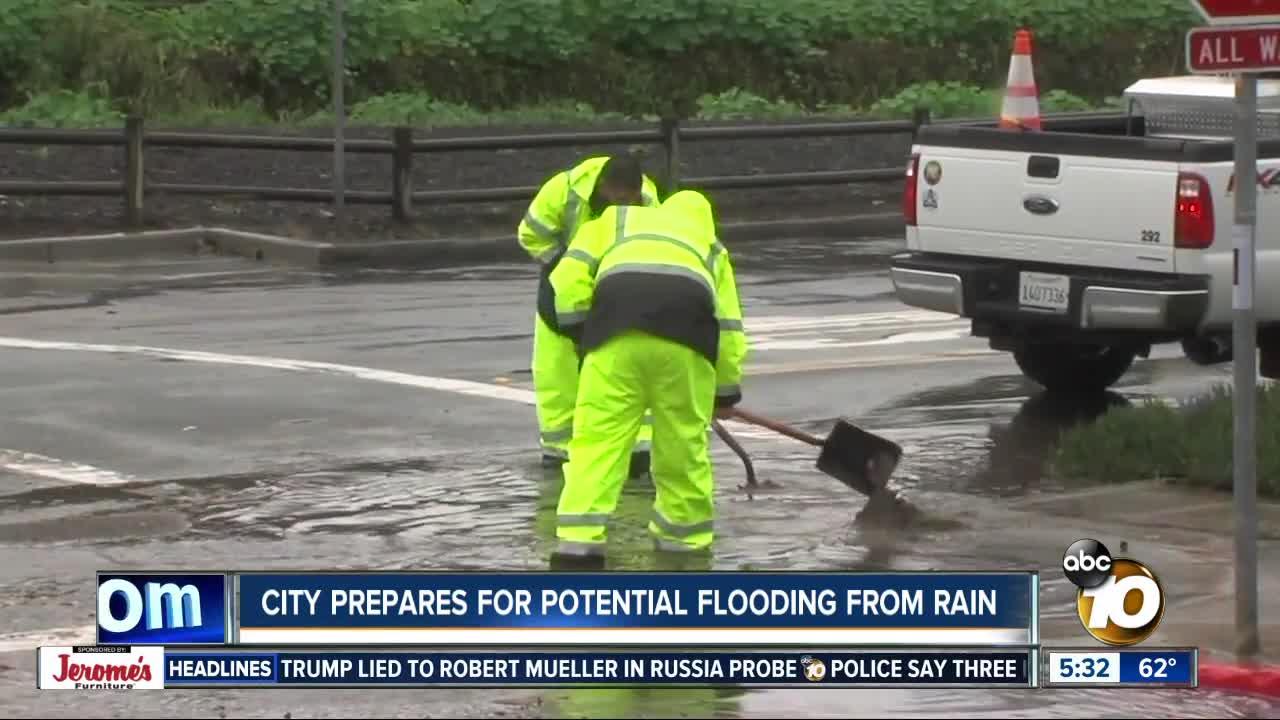 Storm preparations underway in San Diego