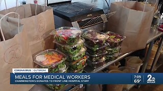 Meals for medical workers, Charmington's donates to front line hospital staff