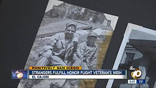 Strangers fulfill San Diego veteran's wish ahead of Honor Flight