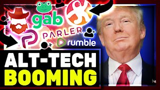 Alt-Tech Is BOOMING! Parler, Rumble, Odysee & Gab Have RECORD Growth! Twitter & Facebook Exit!