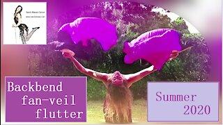 Backbend fanveil flutters slowmotion