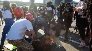 Protestors Clash With California Highway Patrol