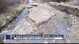 Repairs continue on Shaw Mountain Road