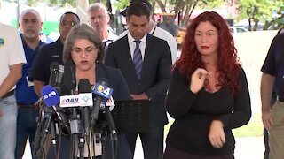 Miami-Dade County mayor gives statement on 7-year-old victim and first responders