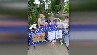 Girls raise money for clean up efforts