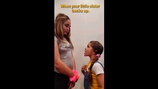 When your little sisters bucks up. Fun with five | Fun with 5