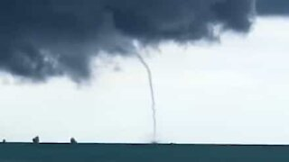 Massive waterspout caught on camera