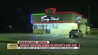 Massive shooting scene on Detroit's east side