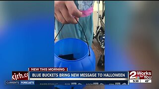 Blue buckets this Halloween to raise awareness for autism