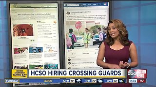Hillsborough County Sheriff's Office is hiring crossing guards, hosting job fair