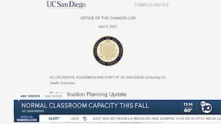 UCSD returns to normal classroom capacity in fall